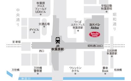 ヨドバシAkiba店地図