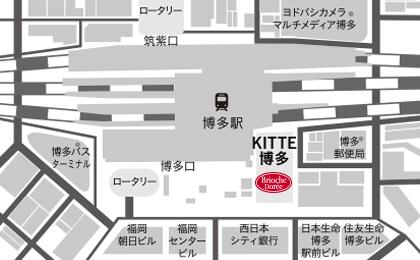 KITTE博多店地図