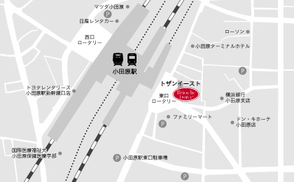 小田原トザンイースト店地図